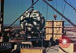Image of Hoisting of Gadget atomic bomb before Trinity nuclear test Alamogordo New Mexico USA, 1945, second 44 stock footage video 65675072463