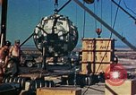 Image of Hoisting of Gadget atomic bomb before Trinity nuclear test Alamogordo New Mexico USA, 1945, second 47 stock footage video 65675072463