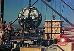 Image of Hoisting of Gadget atomic bomb before Trinity nuclear test Alamogordo New Mexico USA, 1945, second 48 stock footage video 65675072463