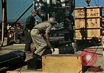 Image of Hoisting of Gadget atomic bomb before Trinity nuclear test Alamogordo New Mexico USA, 1945, second 54 stock footage video 65675072463
