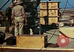 Image of Hoisting of Gadget atomic bomb before Trinity nuclear test Alamogordo New Mexico USA, 1945, second 55 stock footage video 65675072463