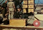Image of Hoisting of Gadget atomic bomb before Trinity nuclear test Alamogordo New Mexico USA, 1945, second 56 stock footage video 65675072463
