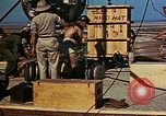 Image of Hoisting of Gadget atomic bomb before Trinity nuclear test Alamogordo New Mexico USA, 1945, second 57 stock footage video 65675072463