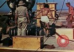 Image of Hoisting of Gadget atomic bomb before Trinity nuclear test Alamogordo New Mexico USA, 1945, second 58 stock footage video 65675072463