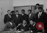 Image of Cassius Clay draft Vietnam War Cleveland Ohio USA, 1967, second 35 stock footage video 65675072489