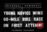 Image of 60 mile bicycle race Chicago Illinois USA, 1936, second 1 stock footage video 65675072520