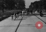 Image of 60 mile bicycle race Chicago Illinois USA, 1936, second 19 stock footage video 65675072520