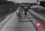Image of 60 mile bicycle race Chicago Illinois USA, 1936, second 30 stock footage video 65675072520