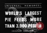 Image of largest pie Talent Oregon USA, 1936, second 1 stock footage video 65675072521