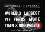 Image of largest pie Talent Oregon USA, 1936, second 3 stock footage video 65675072521