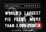 Image of largest pie Talent Oregon USA, 1936, second 4 stock footage video 65675072521