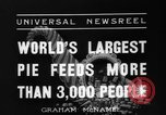 Image of largest pie Talent Oregon USA, 1936, second 7 stock footage video 65675072521
