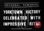 Image of Victory celebrations Yorktown Virginia USA, 1936, second 7 stock footage video 65675072523