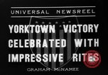 Image of Victory celebrations Yorktown Virginia USA, 1936, second 9 stock footage video 65675072523