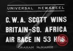 Image of Britain- South Africa air race South Africa, 1936, second 7 stock footage video 65675072524