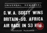 Image of Britain- South Africa air race South Africa, 1936, second 8 stock footage video 65675072524