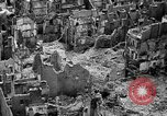 Image of bomb damage Coutances France, 1944, second 19 stock footage video 65675072544
