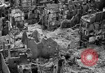 Image of bomb damage Coutances France, 1944, second 21 stock footage video 65675072544