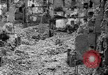 Image of bomb damage Coutances France, 1944, second 37 stock footage video 65675072544