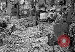 Image of bomb damage Coutances France, 1944, second 39 stock footage video 65675072544