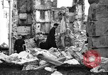 Image of bomb damage Coutances France, 1944, second 49 stock footage video 65675072544