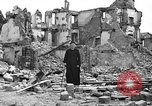 Image of bomb damage Coutances France, 1944, second 53 stock footage video 65675072544