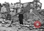 Image of bomb damage Coutances France, 1944, second 54 stock footage video 65675072544
