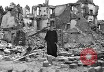 Image of bomb damage Coutances France, 1944, second 55 stock footage video 65675072544
