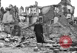 Image of bomb damage Coutances France, 1944, second 56 stock footage video 65675072544