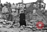 Image of bomb damage Coutances France, 1944, second 57 stock footage video 65675072544