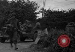 Image of U.S.4th Armored Division in Operation Cobra in World War II Periers France, 1944, second 15 stock footage video 65675072546