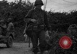Image of U.S.4th Armored Division in Operation Cobra in World War II Periers France, 1944, second 17 stock footage video 65675072546