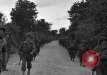 Image of U.S.4th Armored Division in Operation Cobra in World War II Periers France, 1944, second 21 stock footage video 65675072546