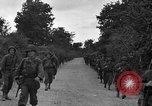 Image of U.S.4th Armored Division in Operation Cobra in World War II Periers France, 1944, second 22 stock footage video 65675072546