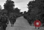 Image of U.S.4th Armored Division in Operation Cobra in World War II Periers France, 1944, second 23 stock footage video 65675072546