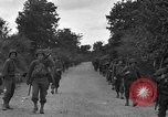 Image of U.S.4th Armored Division in Operation Cobra in World War II Periers France, 1944, second 25 stock footage video 65675072546