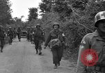 Image of U.S.4th Armored Division in Operation Cobra in World War II Periers France, 1944, second 37 stock footage video 65675072546