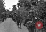 Image of U.S.4th Armored Division in Operation Cobra in World War II Periers France, 1944, second 39 stock footage video 65675072546