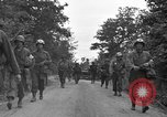 Image of U.S.4th Armored Division in Operation Cobra in World War II Periers France, 1944, second 47 stock footage video 65675072546