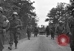 Image of U.S.4th Armored Division in Operation Cobra in World War II Periers France, 1944, second 49 stock footage video 65675072546