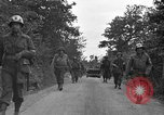 Image of U.S.4th Armored Division in Operation Cobra in World War II Periers France, 1944, second 50 stock footage video 65675072546