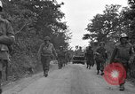 Image of U.S.4th Armored Division in Operation Cobra in World War II Periers France, 1944, second 51 stock footage video 65675072546