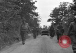 Image of U.S.4th Armored Division in Operation Cobra in World War II Periers France, 1944, second 52 stock footage video 65675072546