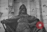 Image of damaged statue of Friedrich I Berlin Germany, 1953, second 37 stock footage video 65675072565