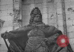 Image of damaged statue of Friedrich I Berlin Germany, 1953, second 38 stock footage video 65675072565