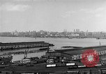 Image of New York City skyline from New Jersey New York City USA, 1954, second 15 stock footage video 65675072571