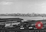 Image of New York City skyline from New Jersey New York City USA, 1954, second 16 stock footage video 65675072571