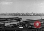 Image of New York City skyline from New Jersey New York City USA, 1954, second 23 stock footage video 65675072571
