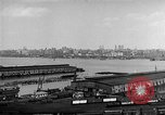 Image of New York City skyline from New Jersey New York City USA, 1954, second 26 stock footage video 65675072571