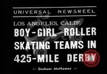 Image of roller derby Los Angeles California USA, 1938, second 6 stock footage video 65675072655